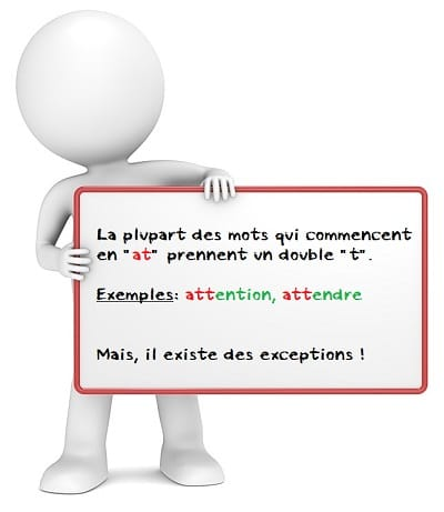 Orthographe des mots qui commencent par at