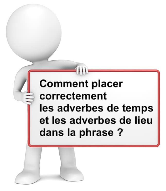 Placer les adverbes de temps ou de lieu