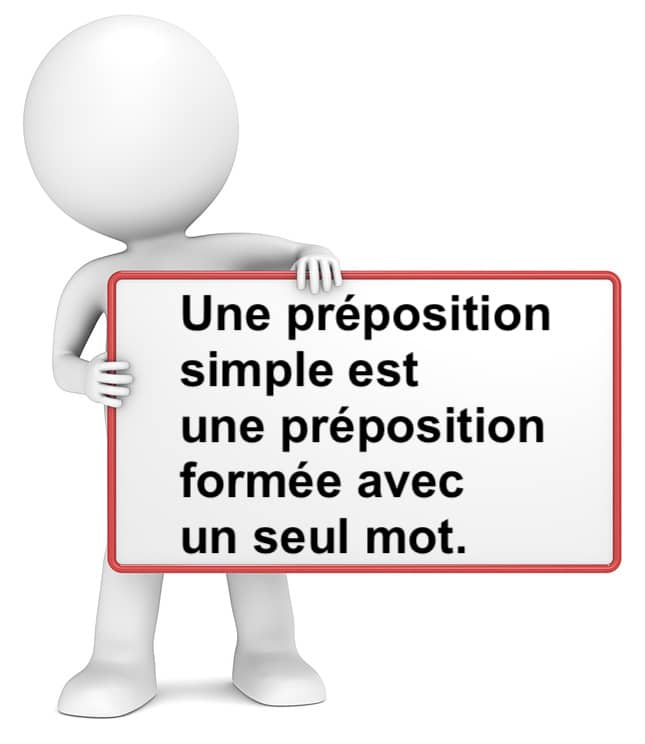 La préposition simple